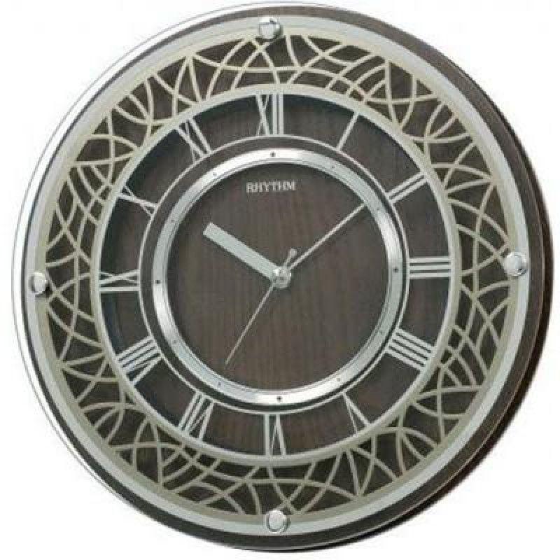 Rhythm Wooden Wall Clock 29 8 Cm Brown Cmg103nr06