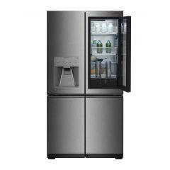 LG Refrigerator Signature Instaview 30 Feet 858 Liter Water Dispenser Door In Door Dark Steel GR-X33FGNGL