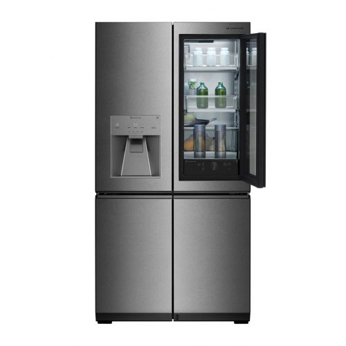 LG Refrigerator Instaview 30 Feet 858 Liter Water Dispenser Door In Door Dark Steel GR-X33FGNGL