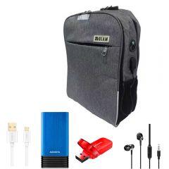 Beam Bag Laptop, Power Bank 7000 mAh, Flash Drive 32GB, Micro Cable & Earphone BM-f1730