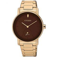 Citizen Stainless Steel Round Analog Watch for Women Gold EQ9063-55X