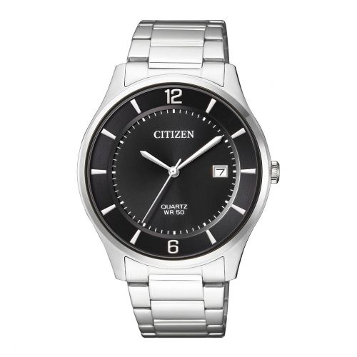 Citizen Stainless Steel Round Analog Watch for Men BD0041-89E