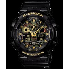 CASIO G-SHOCK Men's Watch Resin Band Digital Water Resistant Black GA-100CF-1A9DR