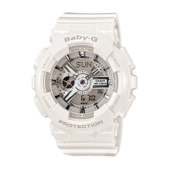 CASIO G-SHOCK Watch Resin Band for women Digital Water Resistant White BA-110-7A3DR