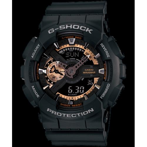 CASIO G-SHOCK Men's Watch Resin Band Digital Water Resistant Black GA-110RG-1ADR