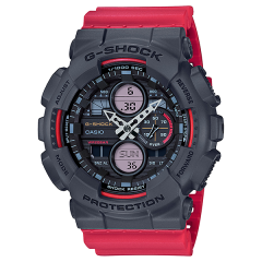 CASIO G-SHOCK Men's Watch Resin Band Digital Water Resistant Red GA-140-4ADR