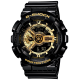 CASIO G-SHOCK Men's Watch Resin Band Water Resistant Black GA-110GB-1ADR