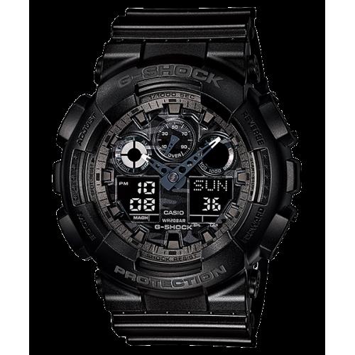 CASIO G-SHOCK Men's Watch Resin Band Digital Water Resistant Black GA-100CF-1ADR