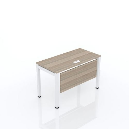 Artistico Metal Desk 120*60 cm Closed on one side AMD120BR*W