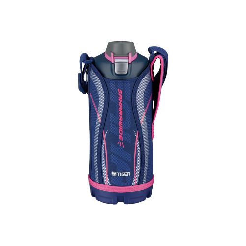 تايجر زجاجة حرارية استانلس ستيل سعة 1 لتر مزودة بحقيبة لون أزرق MME-C100
