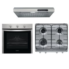 Indesit Kitchen Hood 60cm 140 m3/h ISLT 65 AS X