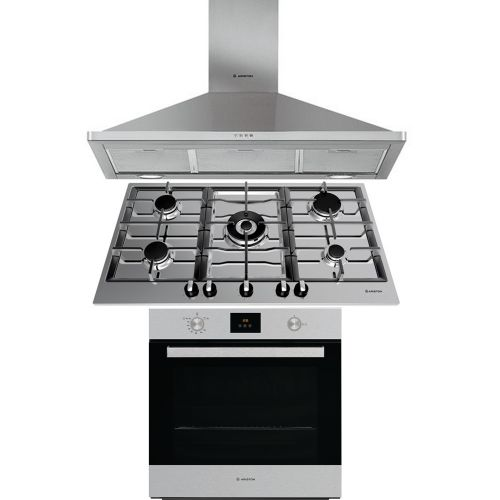 Ariston Built-In Gas Hob 90cm Triple flame Cast iron Stainless: PK 951 T GH