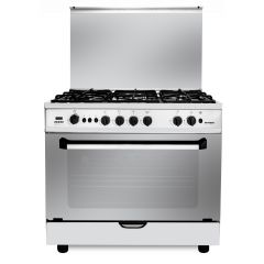Fresh Gas Cooker 5 Burners 90x60 cm Cast Iron Full Safety Plaza 90-7497