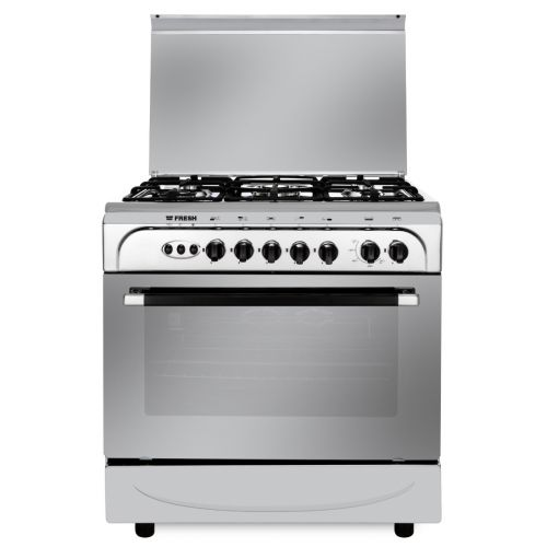 Fresh Gas cooker 5 Gas Burners 80x55 cm With Fan Stainless: Punto 80*55