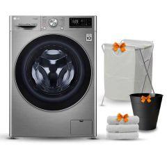 LG Washing Machine 10.5 Kg 1400 RPM 6 Motion Silver Steel F4V5RYP2T