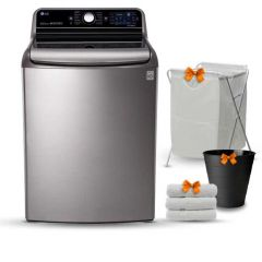 LG Washing Machine Topload 24 KG Direct Drive Steam with Heater T2472EFHST5
