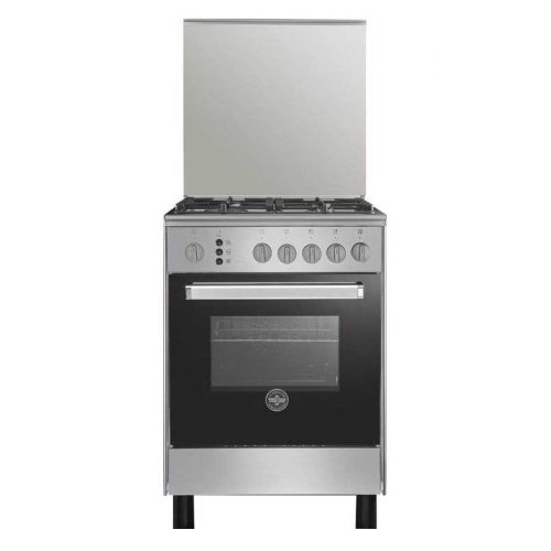 LA GERMANIA Freestanding Cooker 60*60 cm 4 Gas Burners In Stainless*Black 6C40GRB1X4AWW