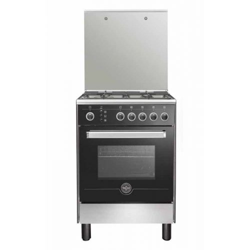 LA GERMANIA Freestanding Cooker 60*60 cm 4 Gas Burners In Stainless*Black 6M80GRB1X4AWW