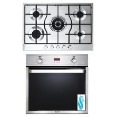 Elba Gas Hob 75 cm 5 Burners and Built-In Gas oven 60 cm ELIO 731