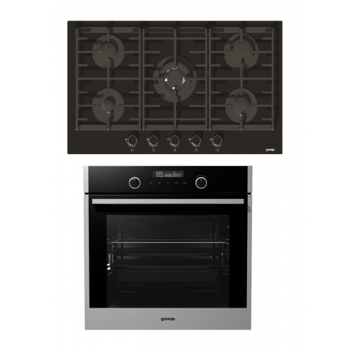 Gorenje Built-In Hob 90 cm and Electric Oven 60cm GCW951UB
