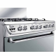 Unionaire Gas Cooker 60*90 cm 5 Burners Cast Iron C6090SS-U2C-511-F-EU