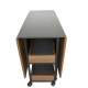 Artistico Modern Dining Table With 4 Chairs Brown AMDT150B+4