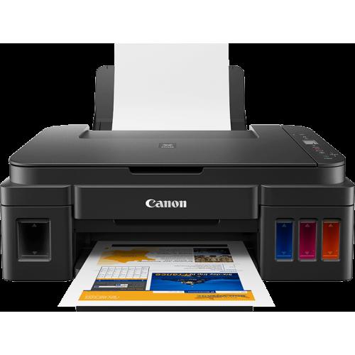 كانون طابعة للطباعة والنسخ والمسح الضوئي بالألوان لاسلكيًّا PIXMA G2411