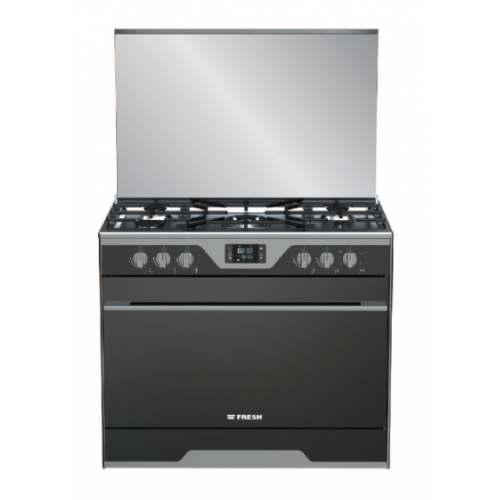 Fresh Gas Cooker 5 Burners 90 cm With 3 Cooling Fan Digital Stainless MODINA