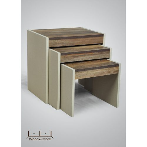 Wood & More Side Table Inside 49,44,39*35 cm Hazel ST-IN-90 H