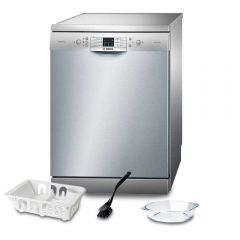 Bosch Dishwasher 13 Set Digital Screen Silver SMS68L28TR