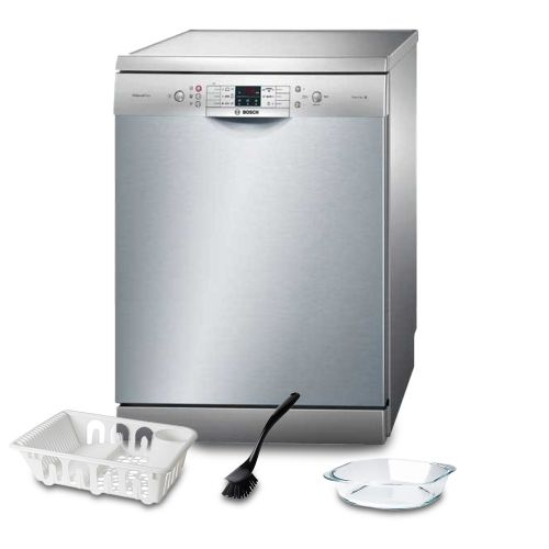 Bosch Dishwasher 13 Set Digital Screen Silver: SMS68L28TR