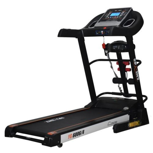 SPRINT Electric Treadmill for 120 KG Digital Display + Vibration Unit + Twister Board + Setup Bench: YG6006/4