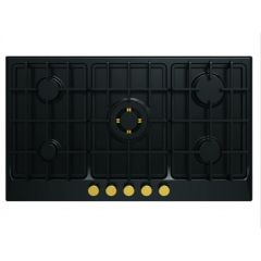 FRESH Built In Gas Cooker 90 cm 5 Burners Cast Iron Black HAFR90CMBC1