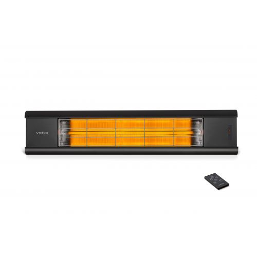 VEITO Wall Mounted Heater 2500 Watt Black Aero S
