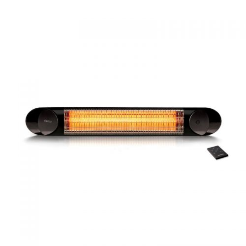 VEITO Wall Mounted Heater 1200 Watt with Remote Control Black BLADE MINI