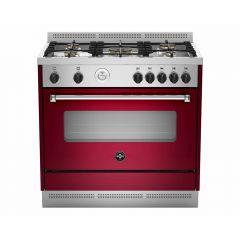 LA GERMANIA Freestanding Cooker 90 x 60 cm 5 Gas Burners In Stainless X Vino AMS95C81AVI