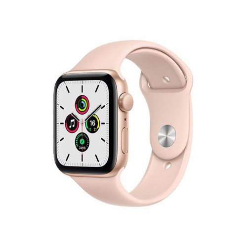 Apple Watch SE GPS 40mm Gold Aluminum Case With Pink Sand Sport Band MYDN2AE/A