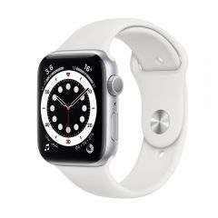 Apple Watch Series 6 GPS 40mm Silver Aluminium Case with White Sport Band MG283AE/A