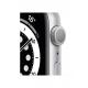 آبل ساعة الجيل السادس جي بي اس 44 ملم هيكل سيلفر من الألومنيوم وسوار رياضي أبيض M00D3AE/A