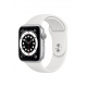 Apple Watch Series 6 GPS 44mm Silver Aluminium Case with White Sport Band M00D3AE/A