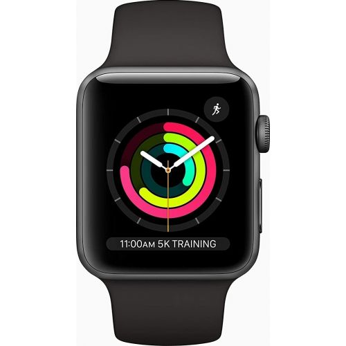 Apple Watch Series 3 GPS 42mm Space Grey Aluminium Case with Black Sport Band MTF32AE/A