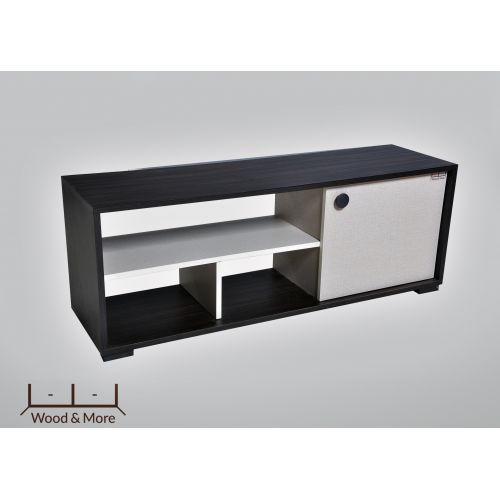 Wood & More TV Table 1 Door 120*44 cm White*Dark Brown TVT-1DR-120(WDB)