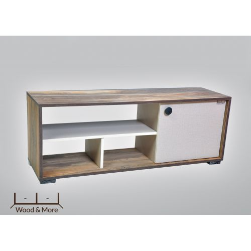 Wood & More TV Table 1 Door 120*44 cm White*Brown TVT-1DR-120(WB)