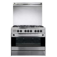 Unionaire i-Cook PRO Gas Cooker 60*90 cm 5 Burners Cast Iron With Fan C6090SS-2SC-511-IF-U