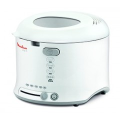Moulinex Fryer Uno - 1800W, 1Kg, Fixed Bowl, WhiteAF123111