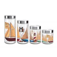 Home Jar Set Of 4 Pieces Multi Color H9209G10