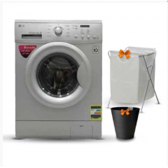 LG Washing Machine 7 Kg 1200 rpm Direct Drive 6 Motions Silver FH2C3QDG5 + Gifts