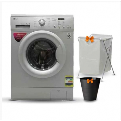 LG Washing Machine 7 Kg 1200 rpm With Steam Direct Drive 6 Motions Silver FH2C3QDG5