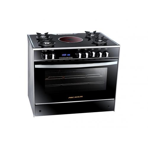 Premium Cooker iChef Plus 90*60 cm Glass Top With Fan Safety Aluminium Digital PRM6090GS-AC-383-IDSH-S-P