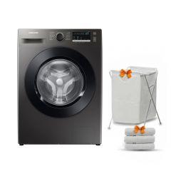 Samsung Washing Machine 9KG 1400RPM Digital Inverter Eco Bubble Steam Inox WW90TA046AX1AS